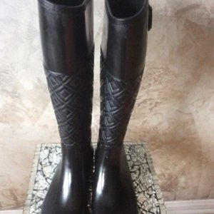 Tory Burch Marion Quilted Rain Boot  Size 7